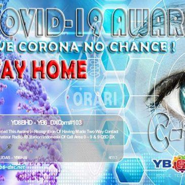 COVID-19 MEMBER AWARD TO YD8BHD