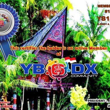 WELCOME TO YB1ABY as YB6_DXCom#125