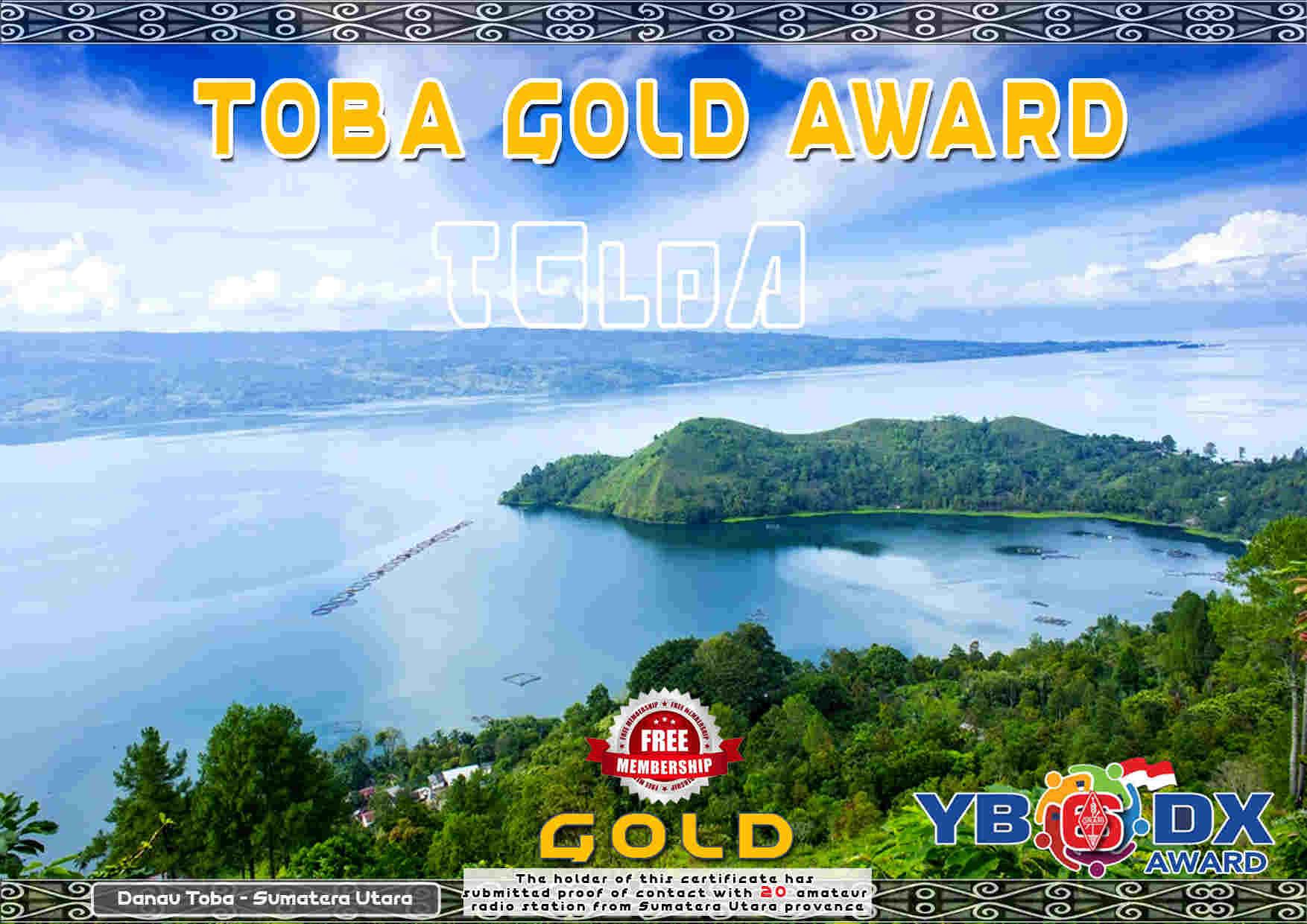 TOBA GOLD FREE AWARD