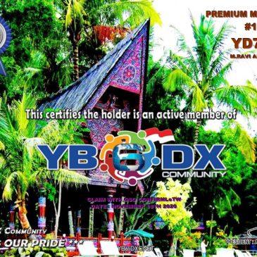 WELCOME TO YD7RV as YB6_DXCom#176