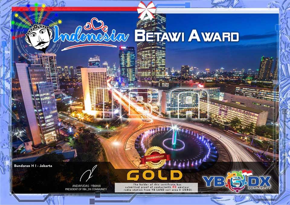 Indonesia Betawi Gold Award