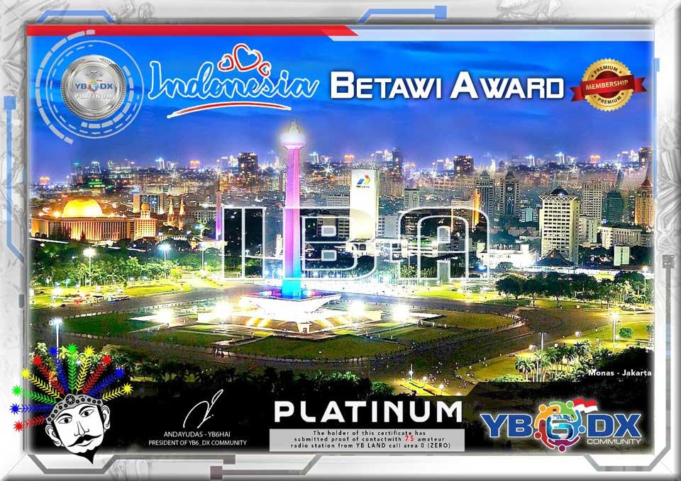 Indonesia Betawi Platinum Award