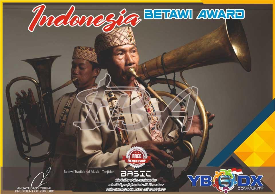 Indonesia Betawi Basic Award Free Member