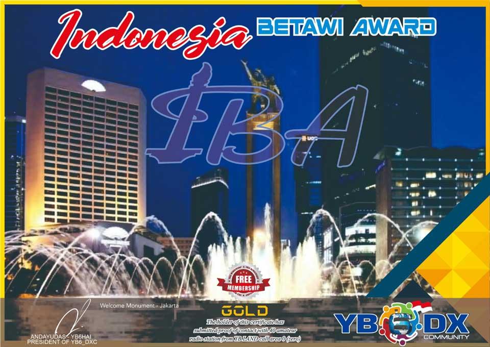 Indonesia Betawi Gold Award Free Member