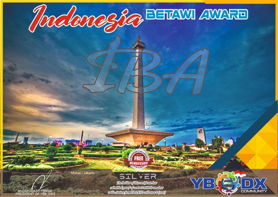 Indonesia Betawi Silver Award Free Member