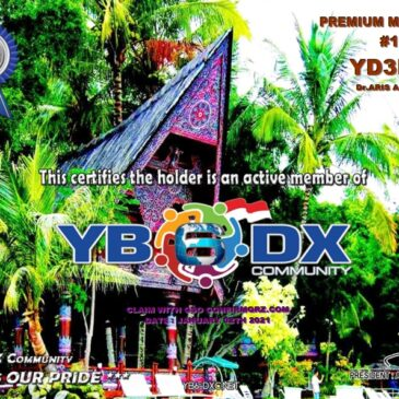 WELCOME TO YD3BQQ AS YB6_DXCom#190