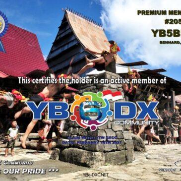 WELCOME TO YB5BBN AS YB6_DXCom#205