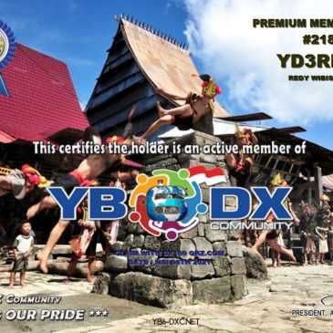 WELCOME TO YD3RDW AS YB6_DXCom#218